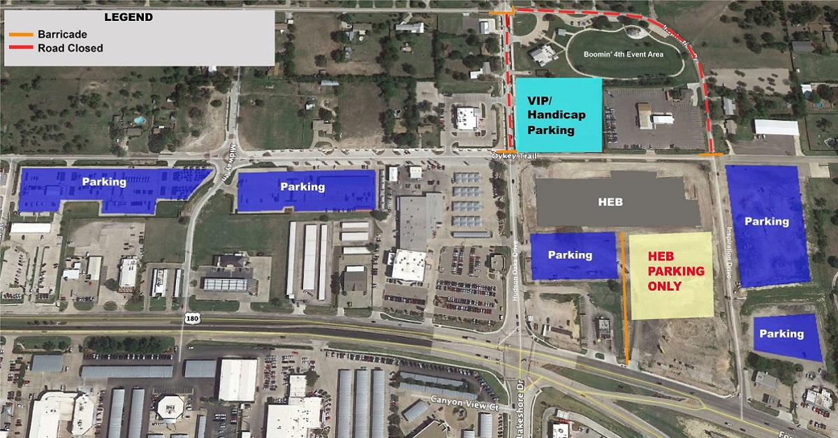 Boomin' 4th Parking Map